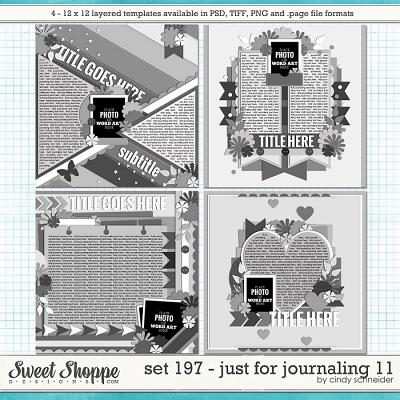 Cindy's Layered templates - Set 197: Just for Journaling 11 by Cindy Schneider