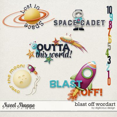 Blast Off Wordart by Digilicious Design