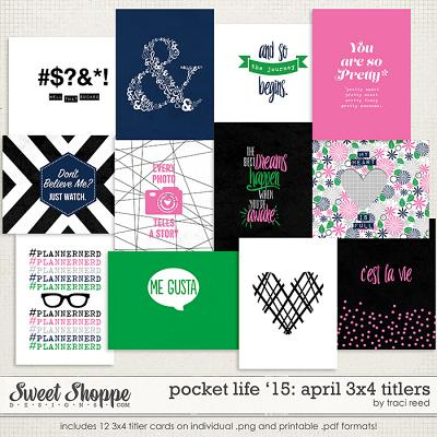 Pocket Life '15: April 3x4 Titlers by Traci Reed