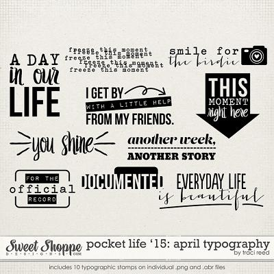 Pocket Life '15: April Typography by Traci Reed