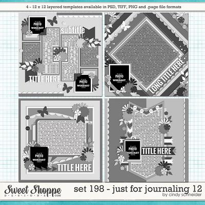 Cindy's Layered templates - Set 198: Just for Journaling 12 by Cindy Schneider