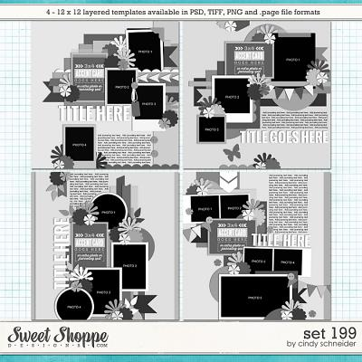 Cindy's Layered Templates - Set 199 by Cindy Schneider