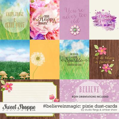 #believeinmagic: Pixie Dust Cards by Amber Shaw & Studio Flergs