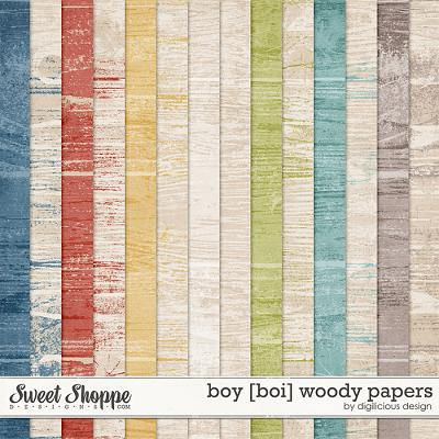 Boy Woody Papers by Digilicious Design