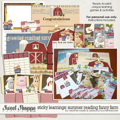 Sticky Learnings: Summer Reading Funny Farm by Heather Roselli & Rebecca Kuchenbecker