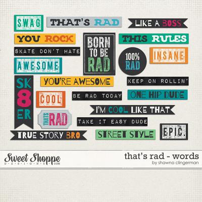 That's Rad Words by Shawna Clingerman