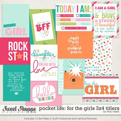 Pocket Life: For The Girls 3x4 Titlers by Traci Reed