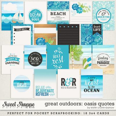 Great Outdoors: Oasis Cards by Kristin Cronin-Barrow