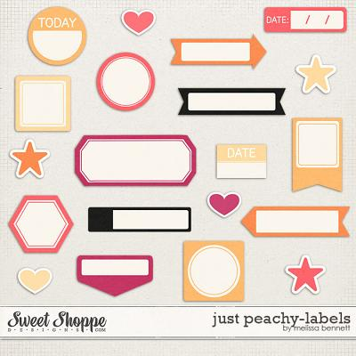 Just Peachy Labels by Melissa Bennett