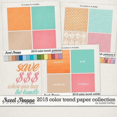 2015 Color Trend Paper Collection by Krystal Hartley