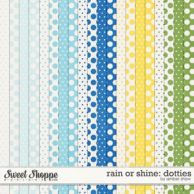 Rain or Shine Dotties by Amber Shaw