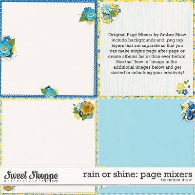 Rain or Shine Page Mixers by Amber Shaw