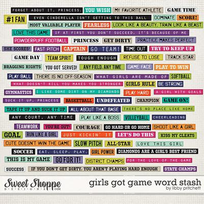 Girls Got Game Word Stash by Libby Pritchett