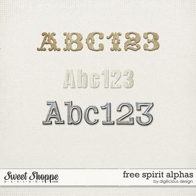Free Spirit Alphas by Digilicious Design