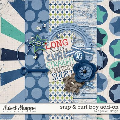 Snip & Curl Boy Add-On by Digilicious Design