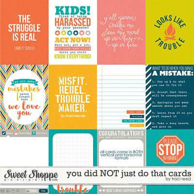 You Did NOT Just Do That Cards by Traci Reed