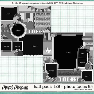 Cindy's Layered Templates - Half Pack 129: Photo Focus 65 by Cindy Schneider