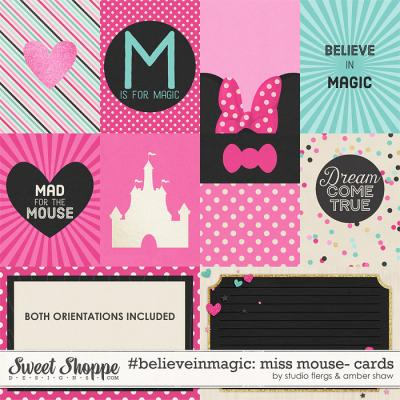 #believeinmagic: Miss Mouse Cards by Amber Shaw & Studio Flergs