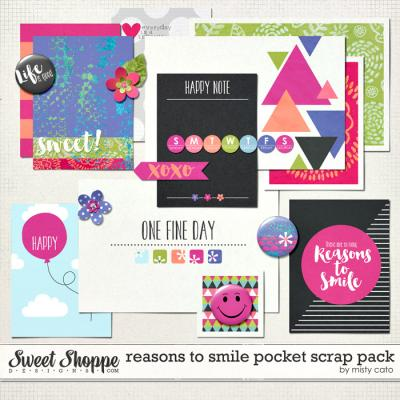 Reasons to Smile Pocket Scraps Pack by Misty Cato