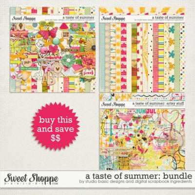 A Taste Of Summer Bundle by Studio Basic and Digital Scrapbook Ingredients