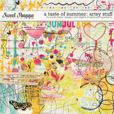 A Taste Of Summer Artsy Stuff by Studio Basic and Digital Scrapbook Ingredients