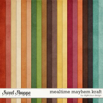 Mealtime Mayhem Kraft by Digilicious Design