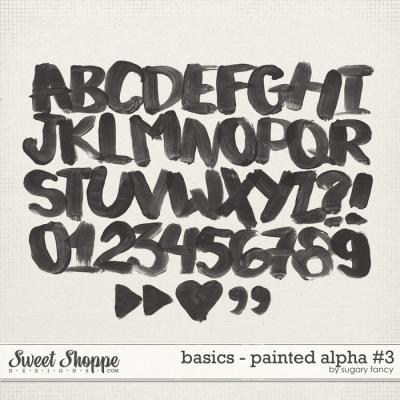 Basics - Painted Alpha #3 by Sugary Fancy