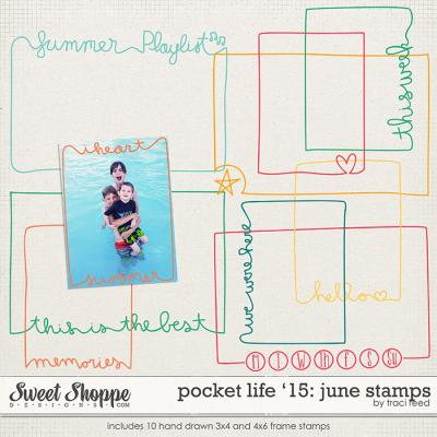 Pocket Life '15: June Stamps by Traci Reed