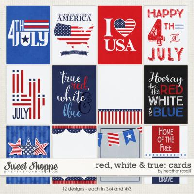 Red, White & True: Cards by Heather Roselli