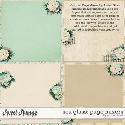 Sea Glass Page Mixers by Amber Shaw