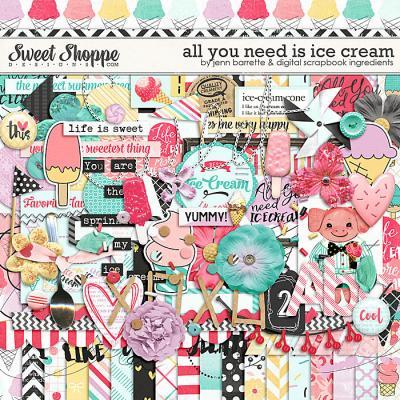 All You Need Is Ice Cream by Jenn Barrette & Digital Scrapbook Ingredients