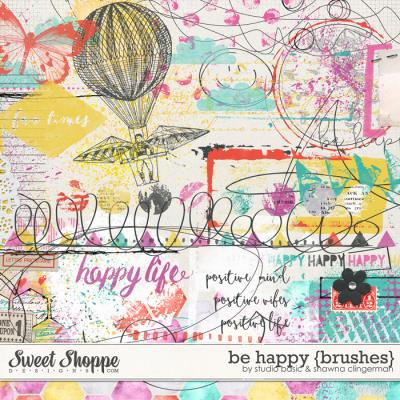 Be Happy {Brushes} by Studio Basic and Shawna Clingerman