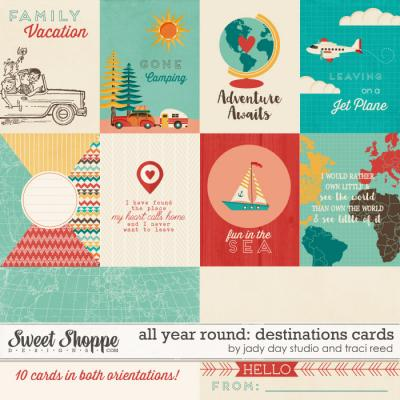 All Year Round: Destinations Cards by Traci Reed and Jady Day Studio