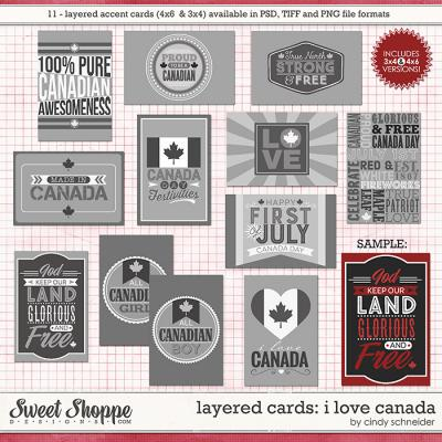 Cindy's Layered Cards: I Love Canada by Cindy Schneider