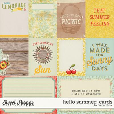 Hello Summer Cards by Amber Shaw