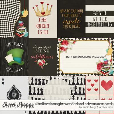 #believeinmagic: Wonderland Adventures Cards by Amber Shaw & Studio Flergs
