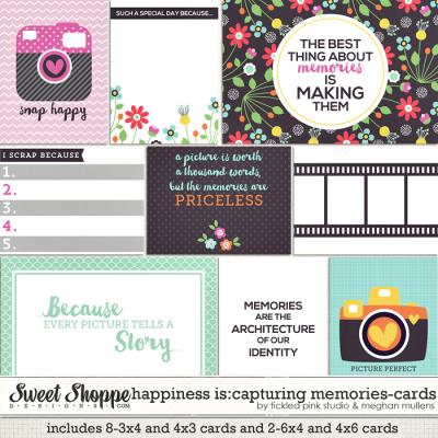 Happiness Is: Capturing Memories Cards by Meghan Mullens & Tickled Pink Studio