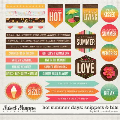 Hot Summer Days: Snippets & Bits by Kristin Cronin-Barrow
