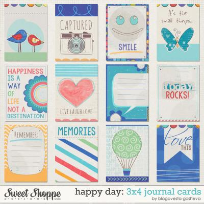 Happy Day 3x4 Journal Cards by Blagovesta Gosheva
