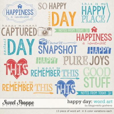 Happy Day Word Art by Blagovesta Gosheva