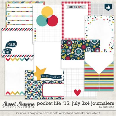 Pocket Life '15: July 3x4 Journalers by Traci Reed