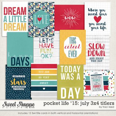 Pocket Life '15: July 3x4 Titlers by Traci Reed