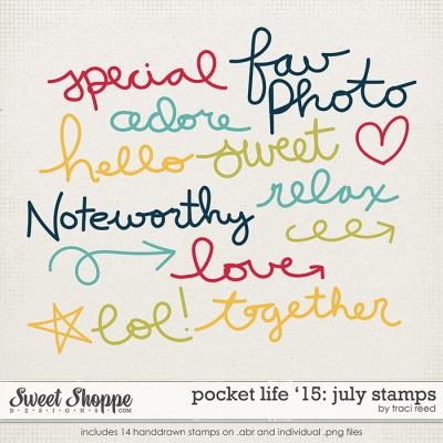 Pocket Life '15: July Stamps by Traci Reed