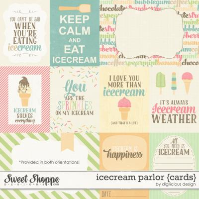 Icecream Parlor Cards by Digilicious Design
