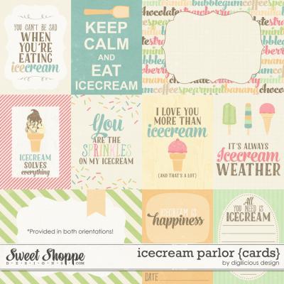 Icecream Parlor Cards by Digilicious Design