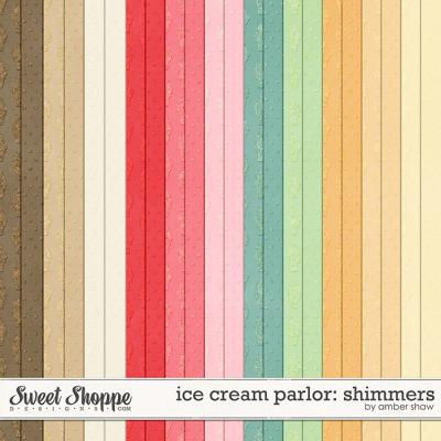 Ice Cream Parlor Shimmers by Amber Shaw