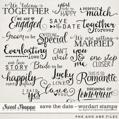 Save The Date | Word Art Stamps by Digital Scrapbook Ingredients
