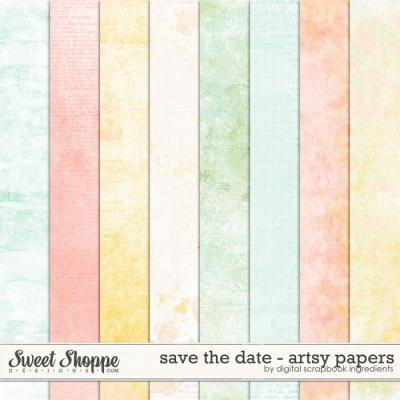 Save The Date   Artsy Papers by Digital Scrapbook Ingredients
