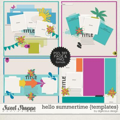 Hello Summertime Templates by Digilicious Design