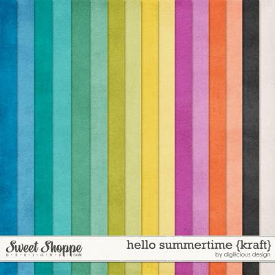 Hello Summertime Kraft by Digilicious Design